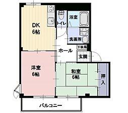 長野県佐久市瀬戸の賃貸アパートの間取り