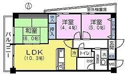 MARUNI BLDG[5階]の間取り