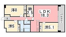 キャッスルコート飾磨[2階]の間取り