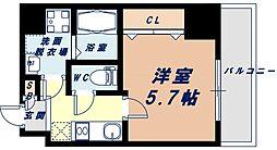 Osaka Metro千日前線 阿波座駅 徒歩7分の賃貸マンション 8階1Kの間取り