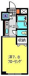 TANAKA HOUSE[1C号室]の間取り