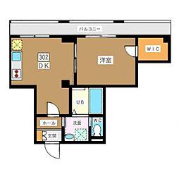 東京メトロ南北線 白金高輪駅 徒歩4分の賃貸マンション 地下3階1DKの間取り