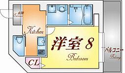 クレアドル須磨II[301号室]の間取り