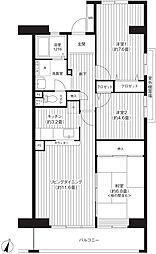 コーポレート浦和中島1号棟[3階]の間取り