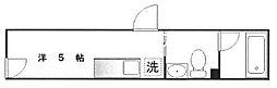 プラティーク文京目白台 1階ワンルームの間取り