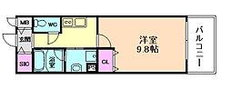 京阪本線 北浜駅 徒歩6分の賃貸マンション 7階1Kの間取り