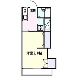 ツチヤハイツ[2階]の間取り