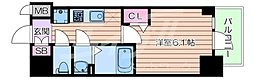Osaka Metro長堀鶴見緑地線 松屋町駅 徒歩4分の賃貸マンション 3階1Kの間取り
