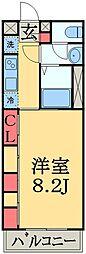 京成千葉線 京成稲毛駅 徒歩13分の賃貸マンション 1階1Kの間取り