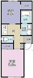 JR南武線 南多摩駅 徒歩1分の賃貸アパート 2階1SKの間取り