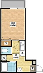 modern palazzo扇町[2階]の間取り