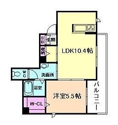 大阪府大阪市西淀川区大和田5丁目の賃貸アパートの間取り