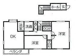 山川アパート[2号室]の間取り