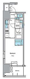 JR山手線 上野駅 徒歩13分の賃貸マンション 4階1Kの間取り