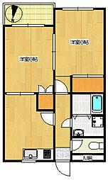 第153新井ビル[402号室]の間取り