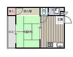 伸光ハイツ[5階]の間取り