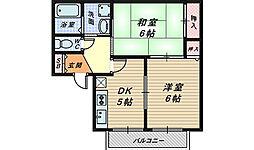コーポサン[2階]の間取り