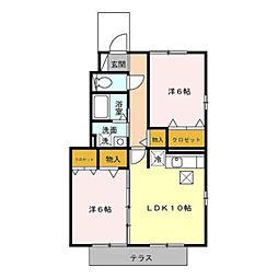 エクセルパークC棟[1階]の間取り