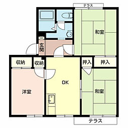 ラ・フォ−レ深井A棟[1階]の間取り