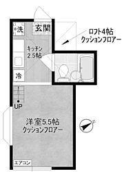 神奈川県川崎市多摩区菅4丁目の賃貸アパートの間取り