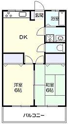サンハウス青葉台[1階]の間取り