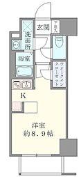 東京メトロ千代田線 湯島駅 徒歩6分の賃貸マンション 3階ワンルームの間取り