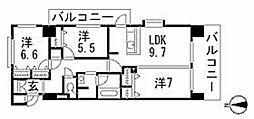 ヘスティア大濠[9階]の間取り