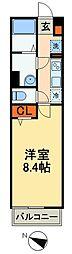 JR総武本線 東千葉駅 徒歩13分の賃貸アパート 2階1Kの間取り