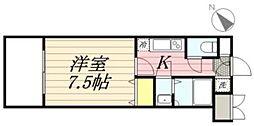 福岡県福岡市博多区中洲5丁目の賃貸マンションの間取り