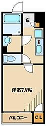 小田急小田原線 町田駅 バス13分 ひなた村下車 徒歩3分の賃貸アパート 2階1Kの間取り