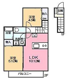 ホワイトハウス[2階]の間取り