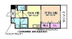 大阪府豊中市三国1丁目の賃貸マンションの間取り