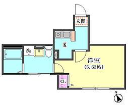 仮)大田区東矢口3丁目1410新築アパート[105号室]の間取り