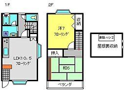 [テラスハウス] 神奈川県横浜市磯子区森6丁目 の賃貸【/】の間取り