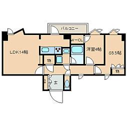 東京メトロ有楽町線 護国寺駅 徒歩2分の賃貸マンション 7階2LDKの間取り