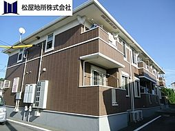 愛知県豊橋市森岡町の賃貸アパートの外観