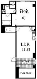 グランブルー駒沢[8階]の間取り