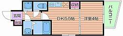 Osaka Metro長堀鶴見緑地線 松屋町駅 徒歩3分の賃貸マンション 2階1DKの間取り