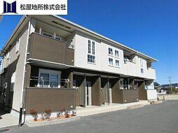 愛知県豊橋市下地町字若宮の賃貸アパートの外観