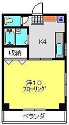 マタヨシハイツ[203号室]の間取り