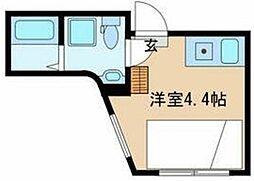 CONTEL KOMAGOME 2階ワンルームの間取り