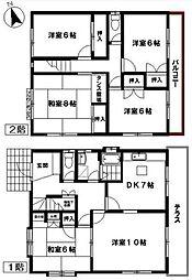 [一戸建] 福岡県福岡市東区八田2丁目 の賃貸【/】の間取り