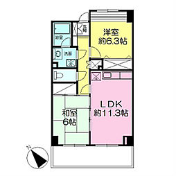 アプリ新横浜[4階]の間取り