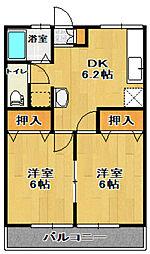 メゾンクレア[2階]の間取り