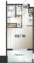 福岡県福岡市中央区天神3の賃貸マンションの間取り