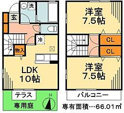 [テラスハウス] 東京都江戸川区本一色3丁目 の賃貸【/】の間取り