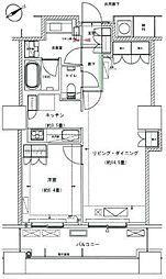 ザ・パークハウス西新宿タワー60 4階1LDKの間取り