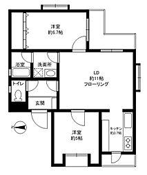 エクセレント桜新町[4階]の間取り
