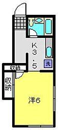 ニューライフコーポ[1階]の間取り