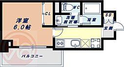 Osaka Metro長堀鶴見緑地線 西長堀駅 徒歩3分の賃貸マンション 6階1Kの間取り